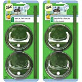 Ball 8-Piece Sip & Straw Lids Set for Wide Mouth Mason Jars   Grey   (4-Lids and 4-Straws)