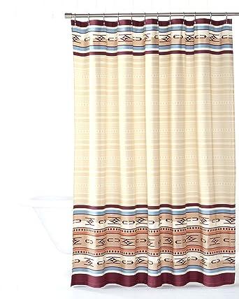 Amazon Pendleton Embroidered Chimayo Shower Curtain Ivory One