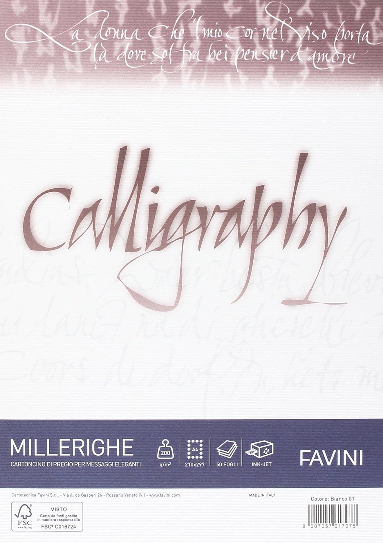 Favini A690324 Carta Calligraphy, Millerighe Rigato