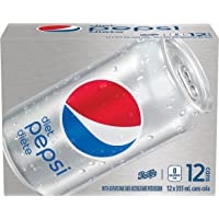 Diet Pepsi cola, 355 mL Cans, 12 Pack