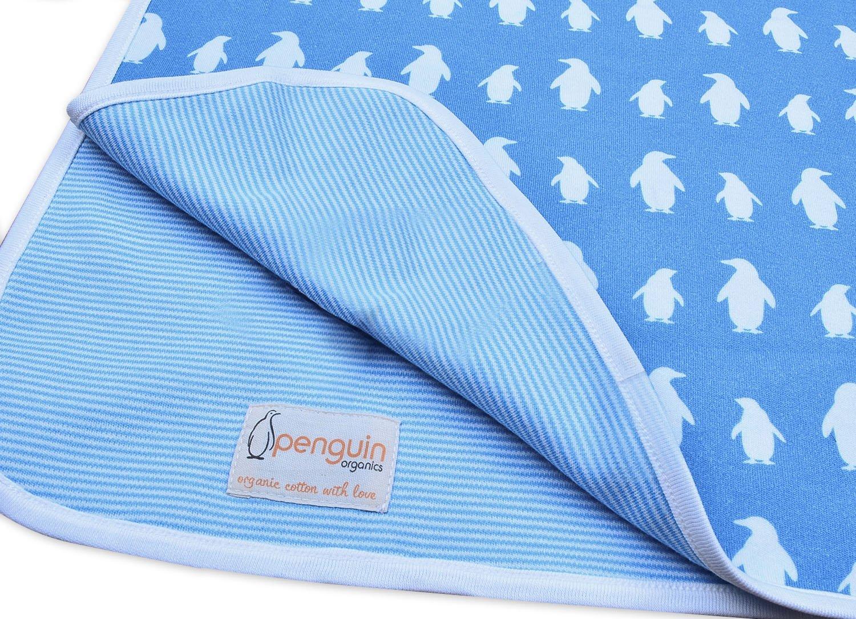 Penguin Blanket Blue Organic Cotton by Penguin Organics   B0155D75V8