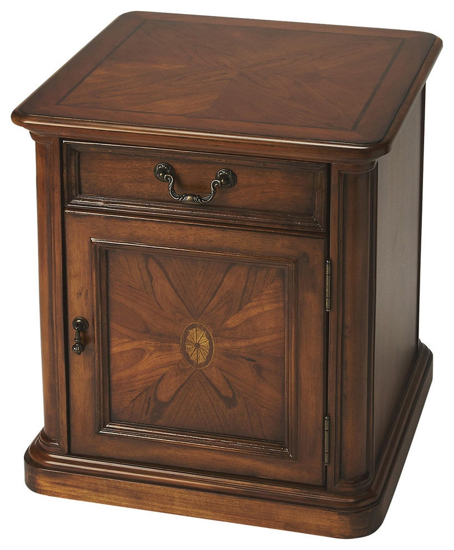 Butler Specialty Company 1155101 Accent Table Thayer Burl, Olive Ash