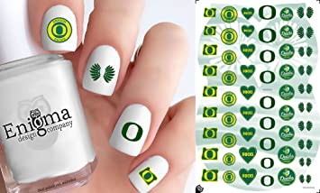 Oregon Ducks Accessories (Clear Water Slide Nail Decals)