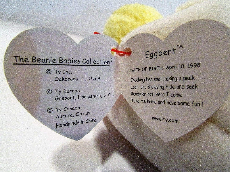 0027f5cf022 Amazon.com  MWMT Rare Eggbert Chick in Egg   Gasport Error TY BEANIE BABY   Home   Kitchen