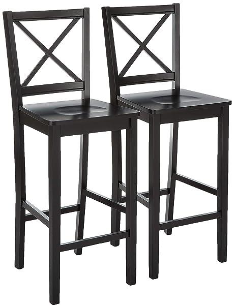 Superb Target Marketing Systems Set Of 2 30 Inch Virginia Cross Back Stools Set Of 2 Black Machost Co Dining Chair Design Ideas Machostcouk