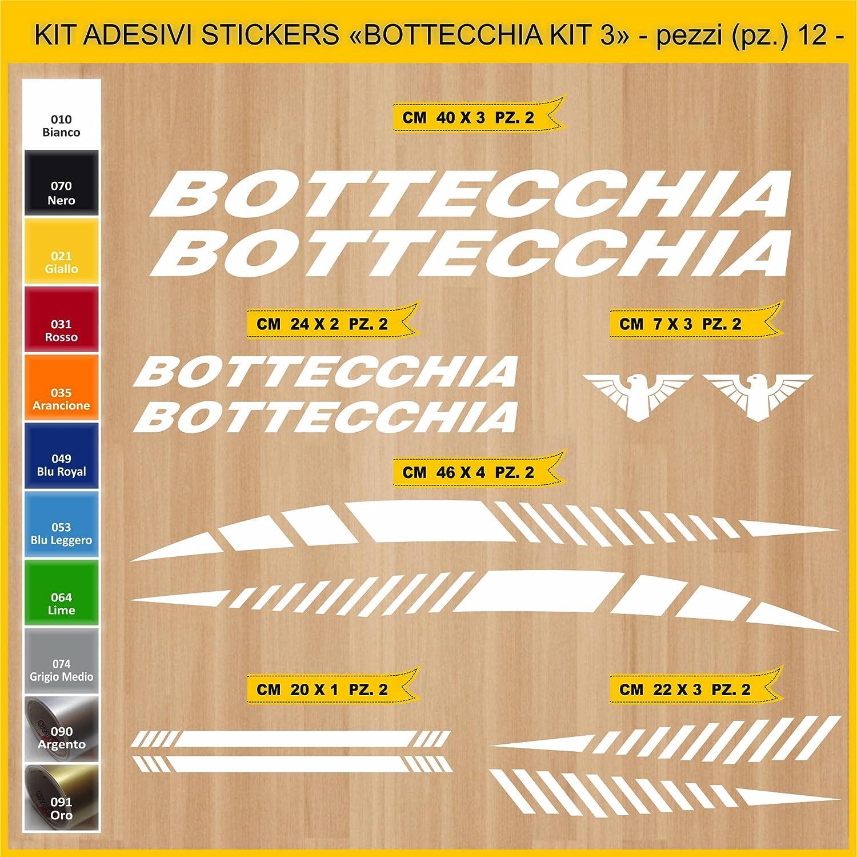Kit Pegatinas Stickers Bicicleta BOTTECCHIA -Kit 3-12 Piezas- Bike Cycle Cod. 0848 (010 Bianco): Amazon.es: Deportes y aire libre