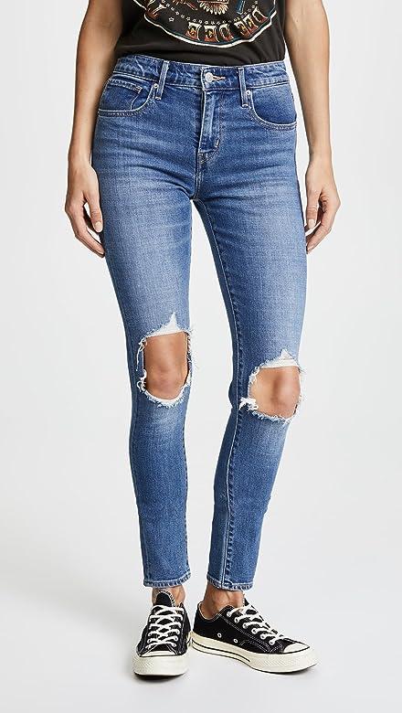 2e8024187f Women's 721 High Rise Distressed Skinny Jeans, Rugged Indigo, Blue, 29