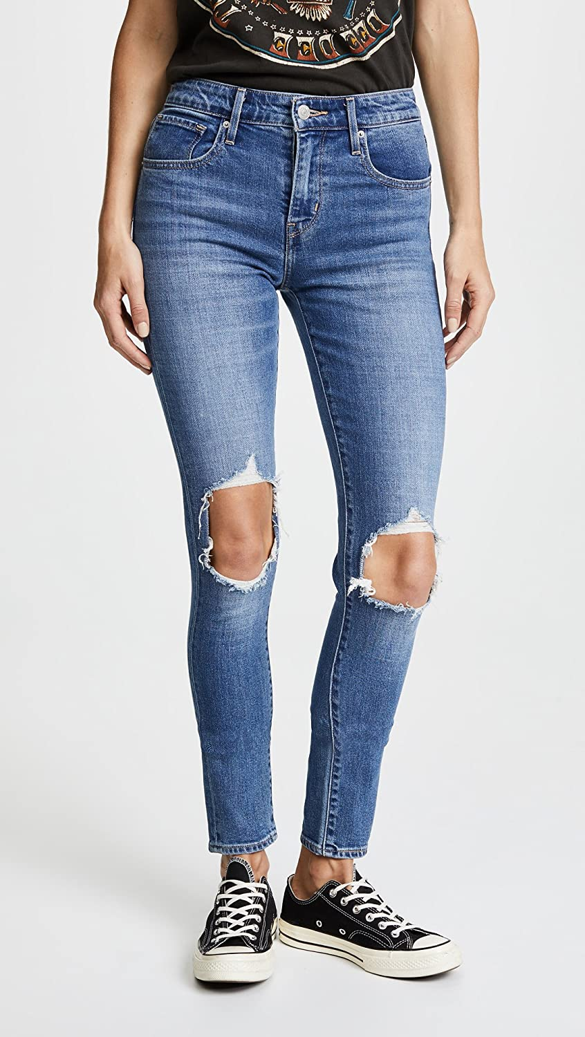 Levi's Women's 721 High Rise Distressed Skinny Jeans at Amazon Women's  Jeans store
