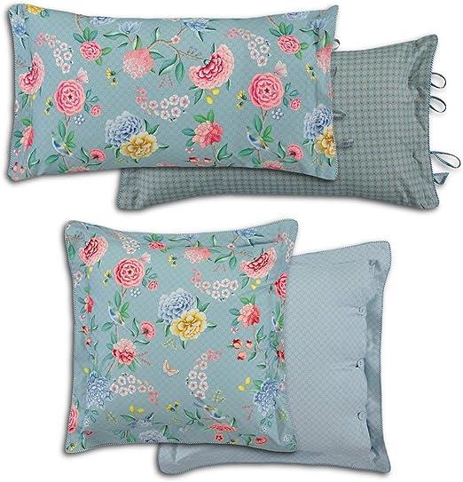 Pip Studio - Cojín Decorativo (percal), Color Azul, 100% algodón, carbón, 35 x 60 cm: Amazon.es: Hogar