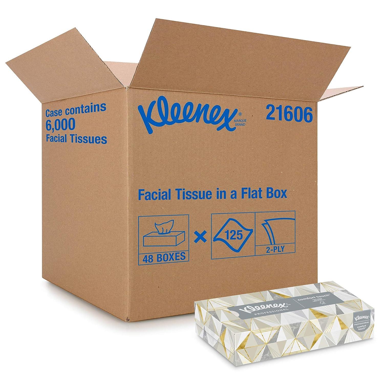 Amazon Com Kleenex Professional Facial Tissue For Business 21606 Flat Tissue Boxes 48 Boxes Case 125 Tissues Box Industrial Scientific