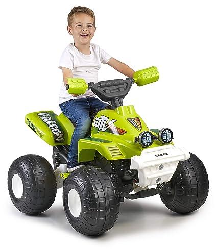 Feber Falcon - Quad Moto de bateria de juguete, para niños y niñas a partir de 3 años, 6V (Famosa 800012510)