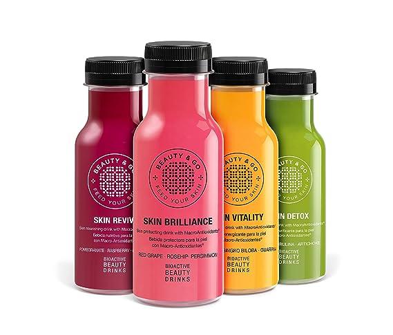 BEAUTY&GO SKIN DETOX 7x250 ml - Bebida cosmética de Péptidos de Colágeno, con Macro-Antioxidantes y Ácido Hialurónico diseñada para purificar y ...