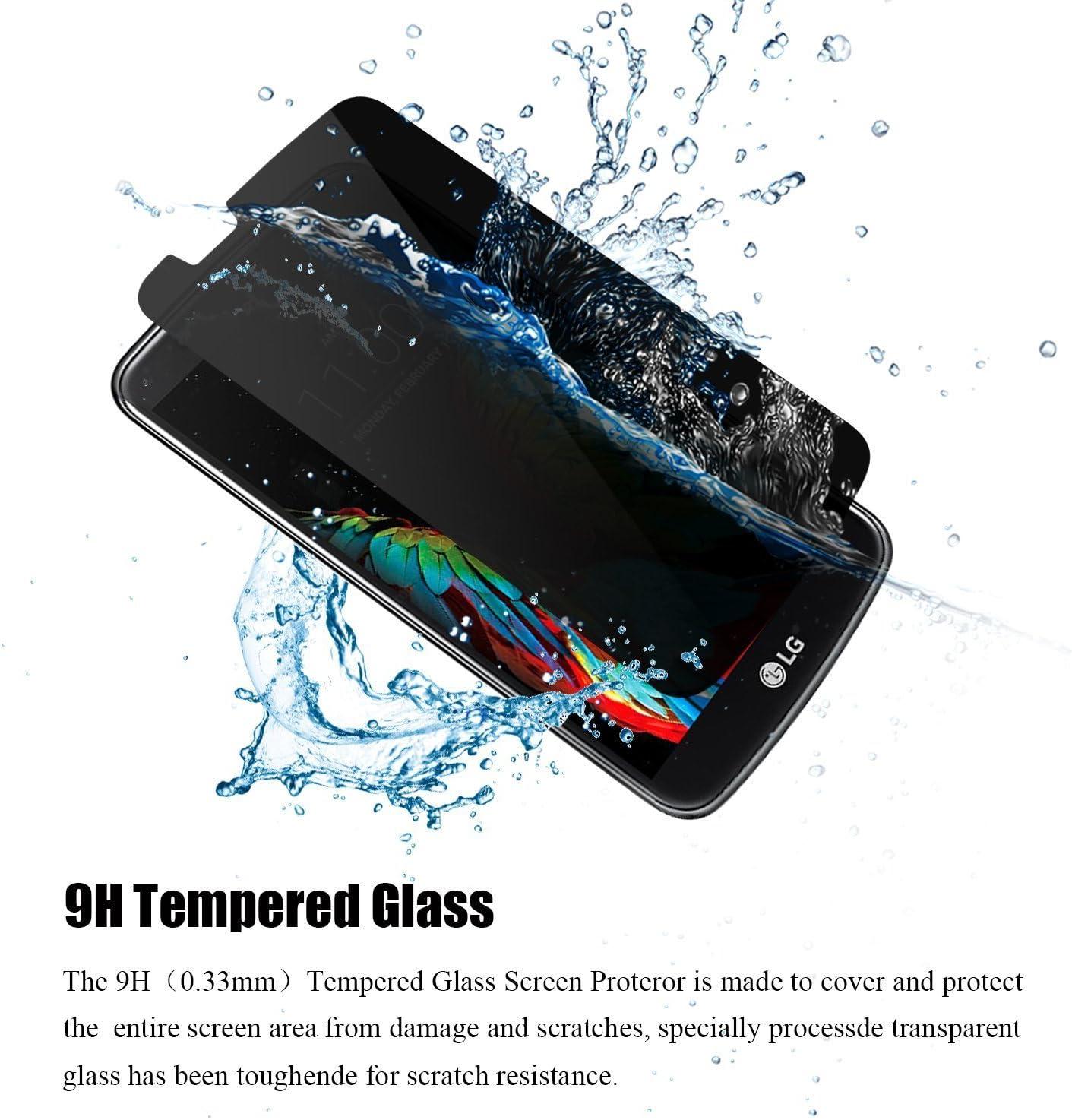 DONWELL - Protector de pantalla para LG K10 (cristal templado ...