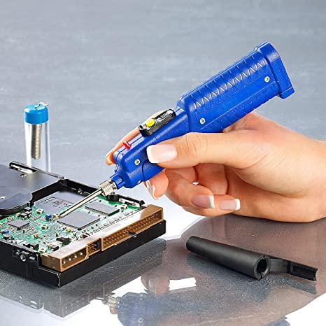 AGT - Soldador (funciona con batería, incluye hilo de estaño): Amazon.es: Industria, empresas y ciencia