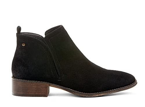 8bab7a15b968e Yellow Shoes COLT Women Casual Comfortable Chelsea Boots Fall/Spring Trendy  Fashion Ankle High Low Block Heel Black Synthetic Suede Leather Memory Foam  ...