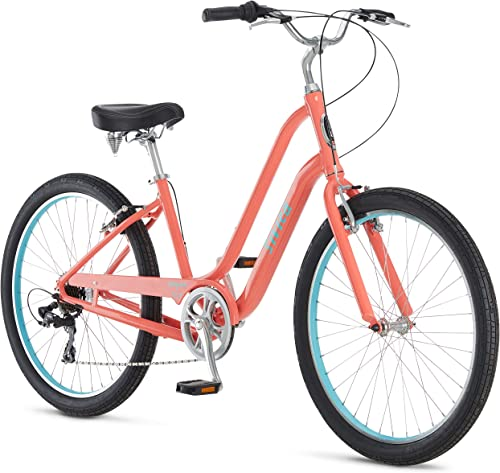 Schwinn Sivica 7 Comfort Cruiser Bike, 7-Speed Shimano Drivetrain, 26-Inch Wheels, Aluminum Step-Over Frame