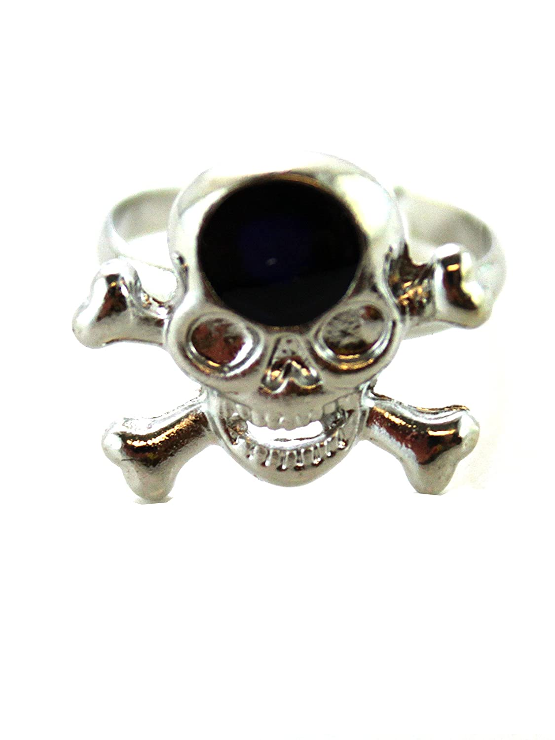 Silver Skull Ring -Mood Ring ( Adjustable Ring)