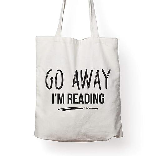 Amazon.com  Book Lover Quote Tote Bag – GO AWAY 4ba6f79b9c709