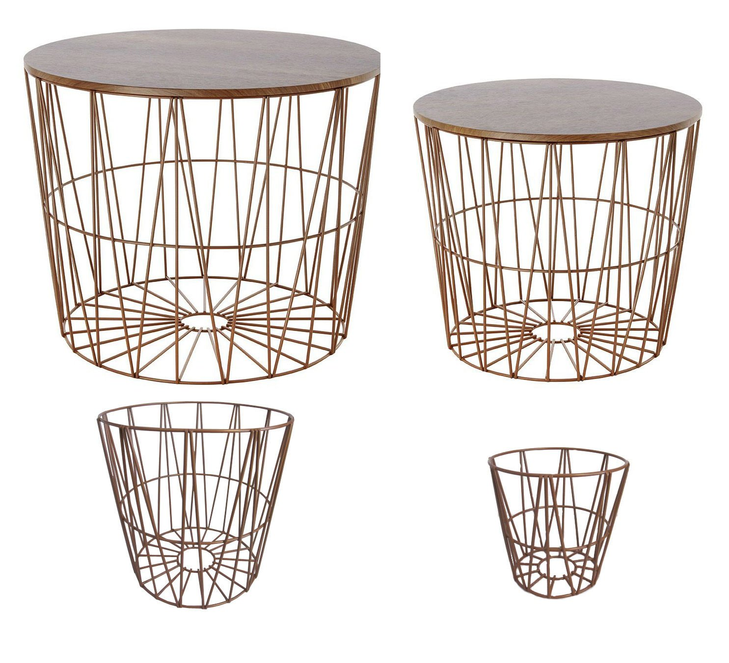beistelltisch metall draht wei. Black Bedroom Furniture Sets. Home Design Ideas
