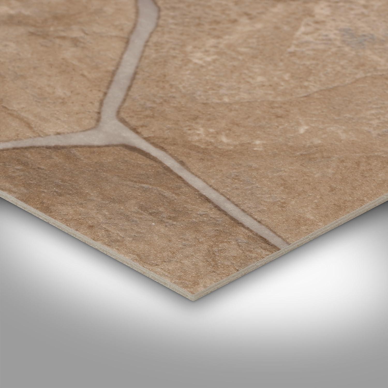 300 und 400 cm breit bruchstein-Optik mediteran BODENMEISTER 7055840001x500 PVC CV Vinyl Bodenbelag Auslegware Fliesenoptik und Steinoptik 200 5 x 4 m
