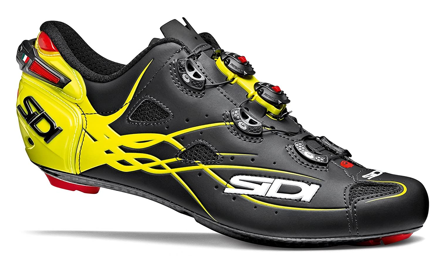 SIDI(シディ) SHOT(ショット) Road Cycling Shoes - Matt Black/Yellow Fluo [並行輸入品] 40 EUR [25.0cm]  B077HHSQ84