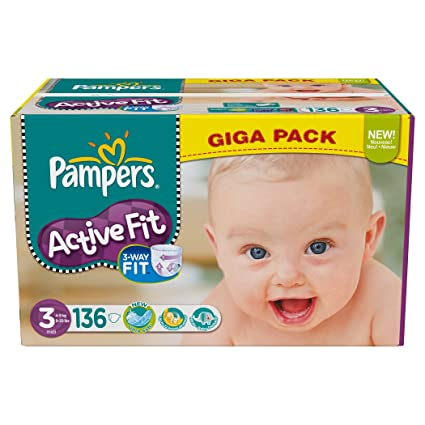 Pampers – 81371247 – Active Fit – Pañales – Talla 3 midi 4 – 9 kg