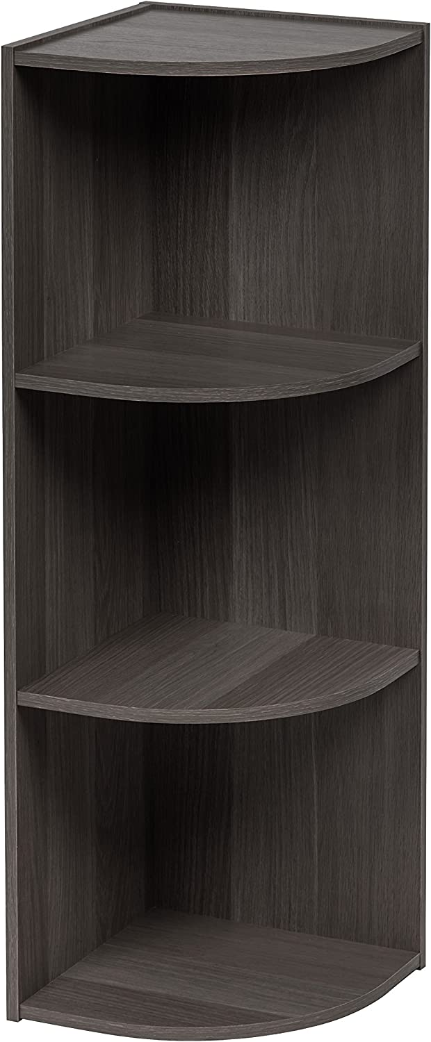 IRIS USA, Inc. 596487 CX-3C 3-Tier Corner Curved Shelf Organizer, Gray