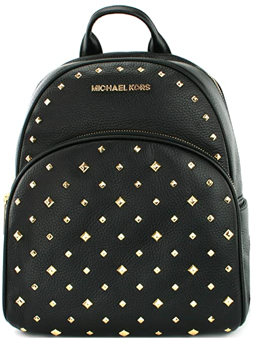 c3f6c1d9f478 Michael Kors Abbey Backpack Bag Studded Leather (Medium, Black):  Amazon.co.uk: Shoes & Bags