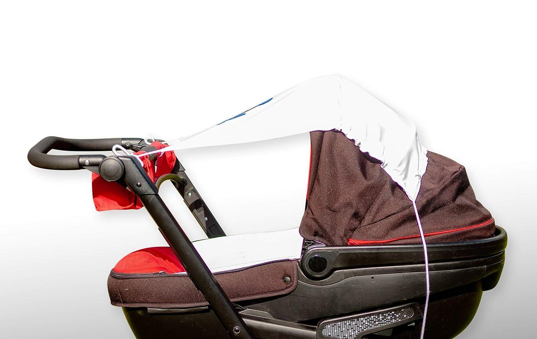 Dunkelgrau//ELEFANT Amilian Sonnensegel f/ür jeden Kinderwagen universal UV-Sonnenschutz f/ür Baby luftdurchl/ässig mit Applikation