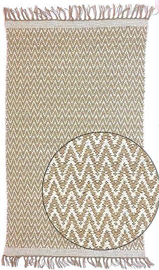 Second Nature Online - Alfombra (algodón, 150 x 240 cm), diseño de Espiga, Color Beige y Crema: Amazon.es: Juguetes y juegos