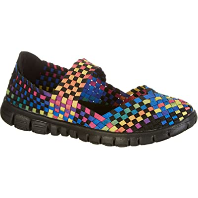 Coral Bay Womens Cassie Multi Woven Slip On Shoes