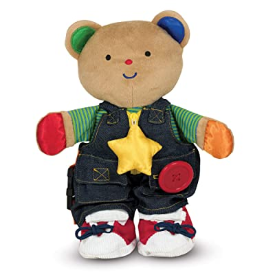 Melissa & Doug K's Kids - Teddy Wear Stuffed Bear Educational Toy, Great Gift for Girls and Boys – Best for Babies, 18 Month Olds, 24 Month Olds, 1 and 2 Year Olds: Melissa & Doug: Toys & Games