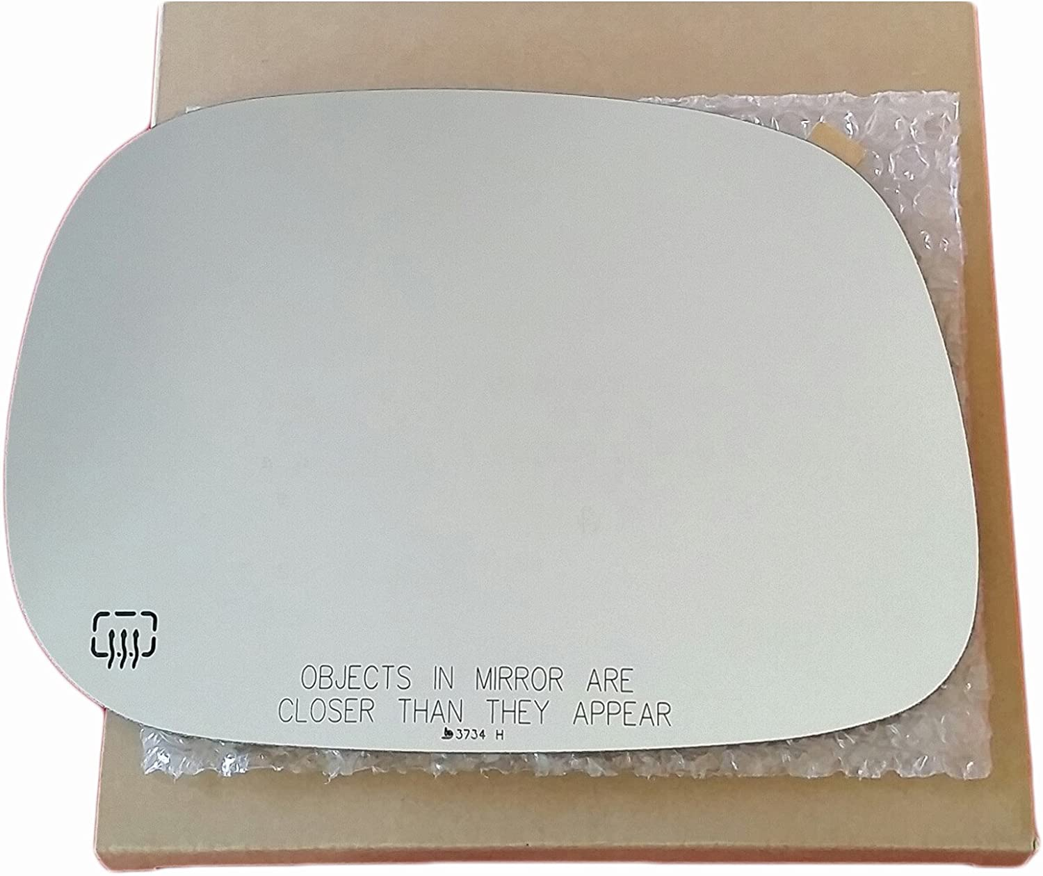 NEW Mirror Glass WITH BACKING HEATED DODGE RAM PICKUP Passenger Side NON TOWING