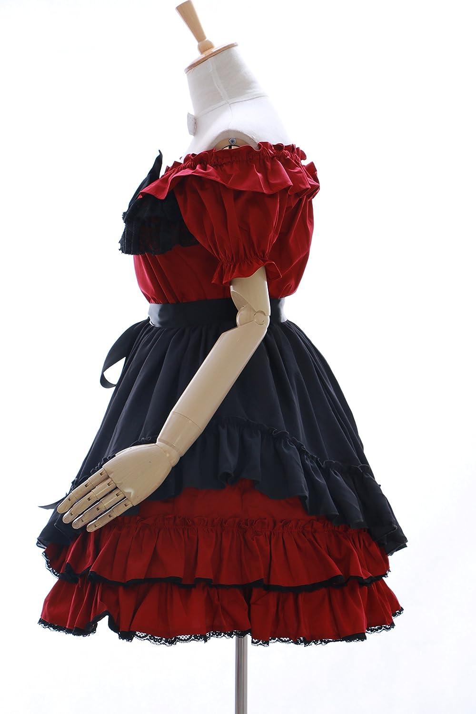 Kawaii-Story JL-614-2 Dunkel Rot Stretch Classic Gothic Gothic Gothic Lolita Kleid Kostüm Dress Cosplay (EUR M) f7a7c0