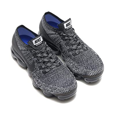 88b7577da51ba Image Unavailable. Image not available for. Color  Nike Women Air Vapormax  Flyknit Running Black Black-White-Racer Blue ...