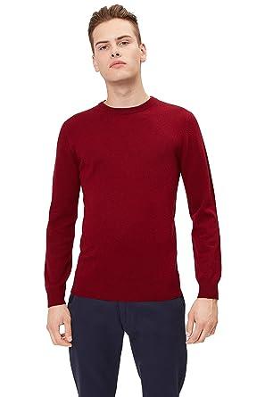 34ffdd36ced7 Moss London Men s Wine Crew Neck Jumper  Amazon.co.uk  Clothing