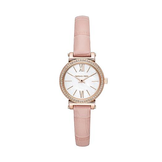 Michael Kors Reloj Analogico para Mujer de Cuarzo con Correa en Cuero MK2715: Amazon.es: Relojes