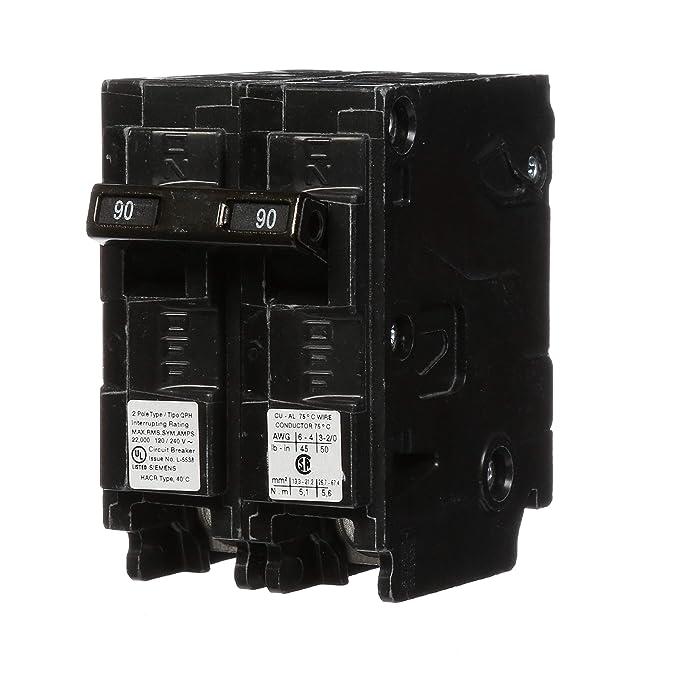 Q290H 90-Amp Double Pole 22kA Type QPH Circuit Breaker