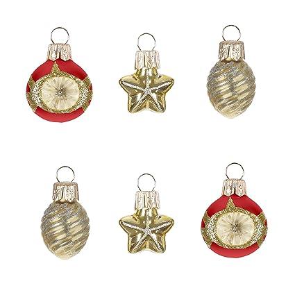 Miniature Christmas Ornaments.Hallmark Keepsake Mini Christmas Ornaments 2019 Miniature Decorative Baubles Glass Set Of 6 Set