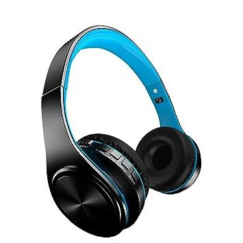 Songwen Auriculares inalámbricos con Bluetooth, cancelación de ruido activo, auriculares de sonido estéreo plegables sobre la oreja de viaje con ...