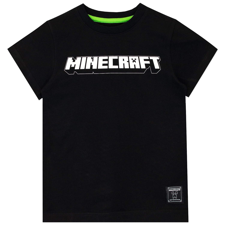Minecraft Maglietta Maniche Corta per Ragazzi Confezione da 2