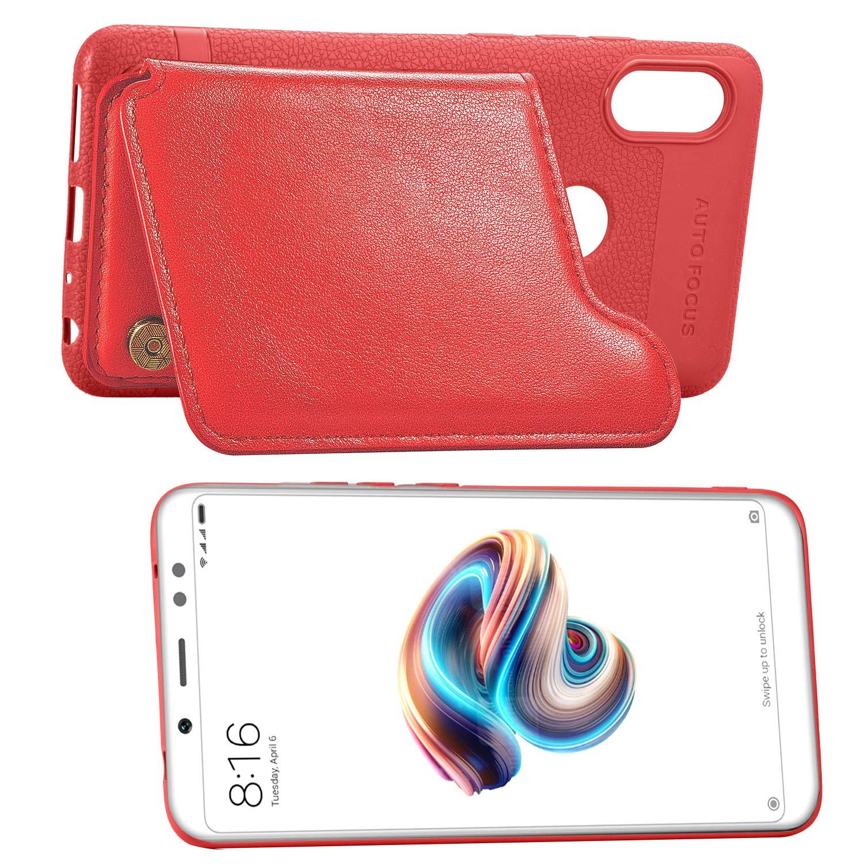 Compatible Avec Xiaomi Redmi Note 5 Pro Cuir Housse Doux Femmes Antichoc Cover Transparent Ultra Porte-cartes
