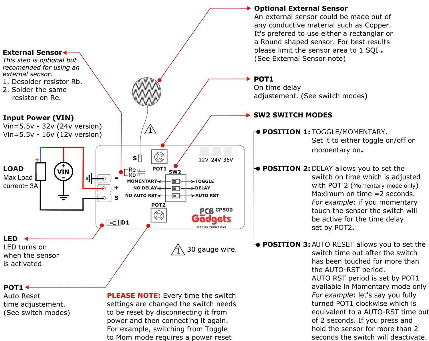 Capacitive Switch W Selectable Toggle Momentary Mode Circuit Diagram Industrial Scientific