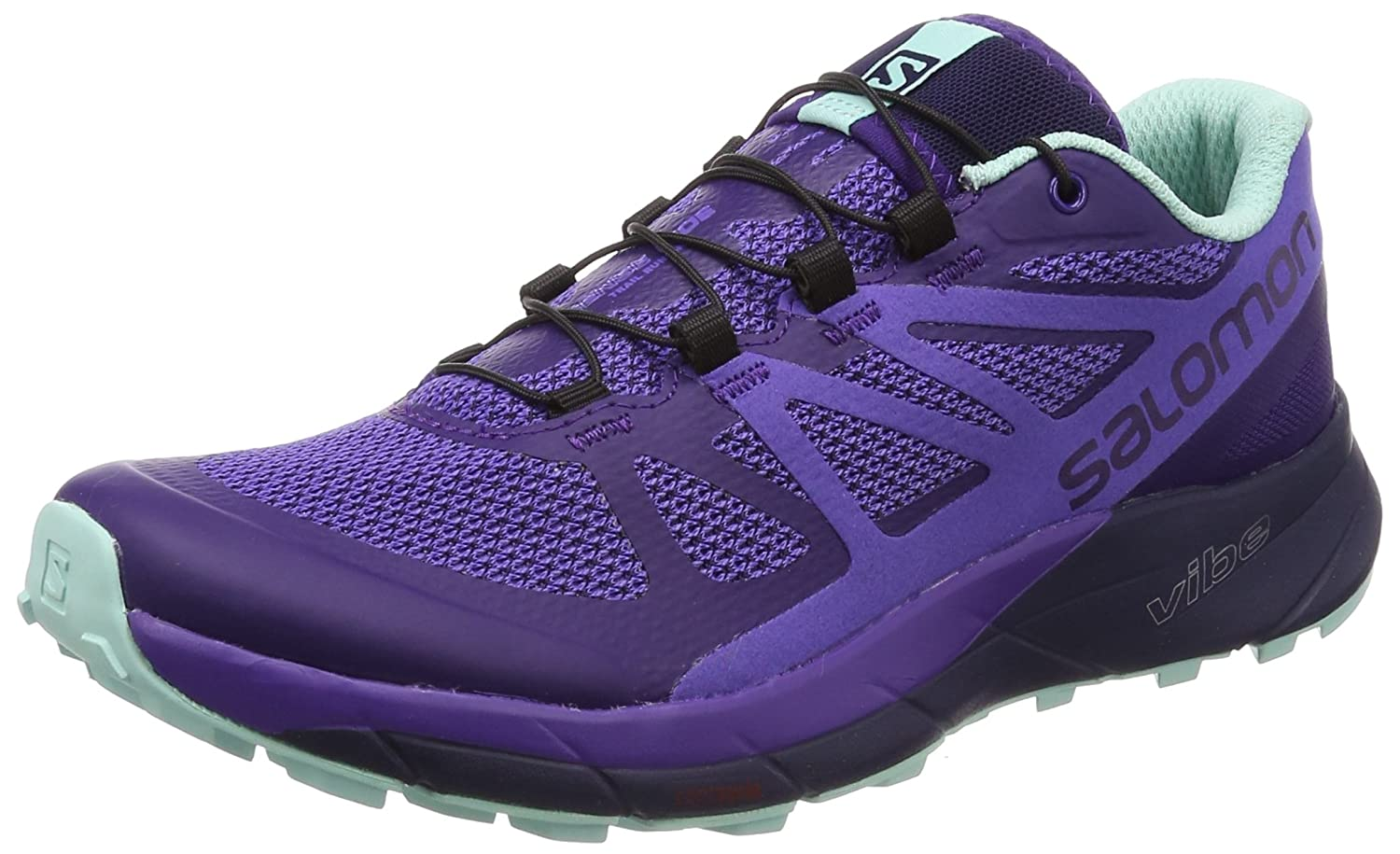 Salomon Sense Ride Running Shoe - Women's B078Z3QKK5 10 B(M) US|Parachute Purple, Purple Opulence, Beach Glass