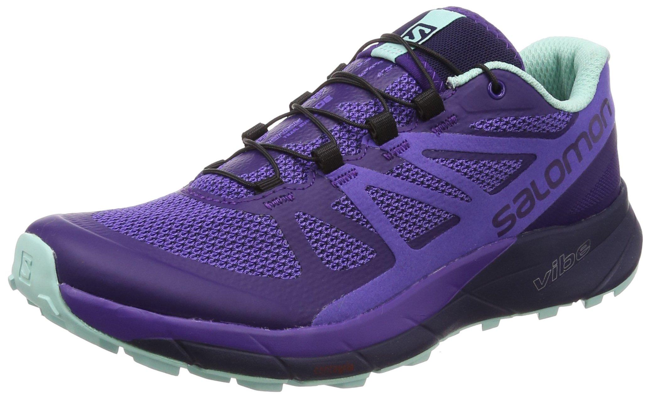 Salomon Women's Sense Ride Running Shoes, Purple, 6.5 M