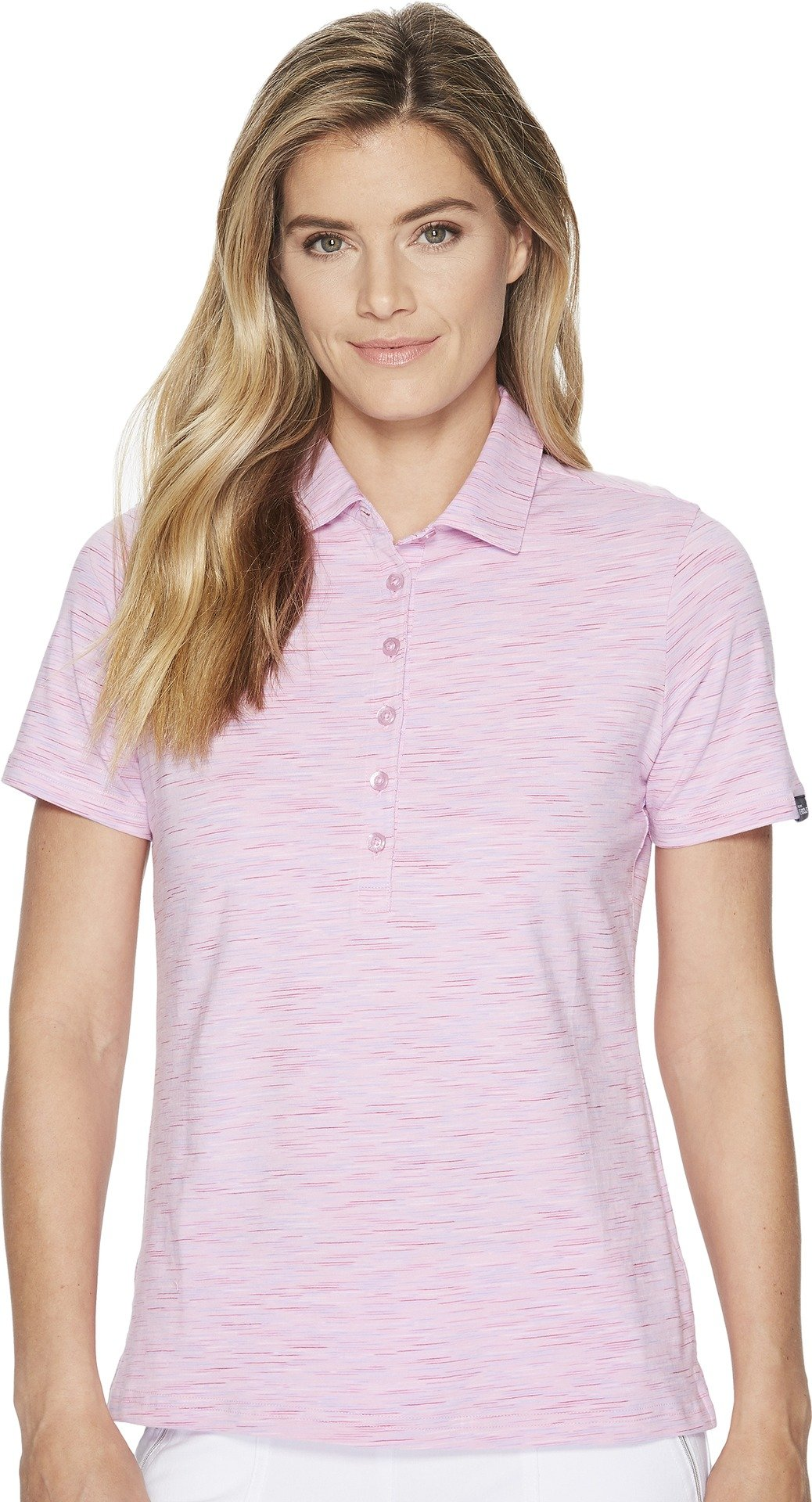 Skechers Performance Womens Go Golf Space Dye Polo Light Pink MD One Size