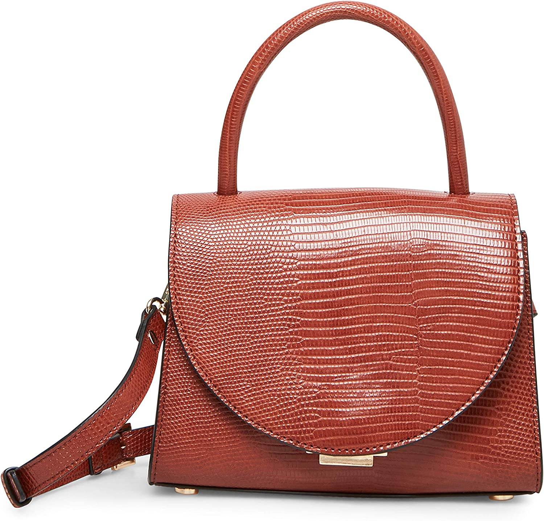 Steve Madden womens Steve Madden COLVIN Top Handle Bag, Cognac, 7.5 L x 5.5 H 3.5 W US
