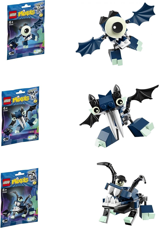 LEGO, Mixels, Series 4 Bundle Set of Glowkies, Globert (41533), Vampos (41534...