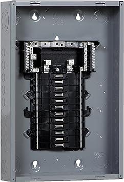 Square D Main Breaker Panel Box 100 Amp 24-Space 48-Circuit Indoor Load Center