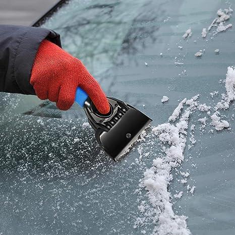 Mudder 3 Stücke Eiskratzer Auto Schneeschaber Frost Und Schneeräumwerkzeug Für Pkw Und Kleinlastwagen Windschutzscheibe Und Fenster Auto